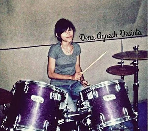 My Lovely Sister Playing Drums Enjoying Life Love Music