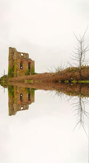 Watery mirror image Ruin Old Buildings Stone Ruins Old Building  Mirror Reflection Reflection Lake Waterway Mirrorshot