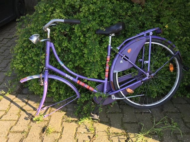 Bicycle Land Vehicle Transportation Mode Of Transportation Day No People Stationary Parking Metal Outdoors Wheel