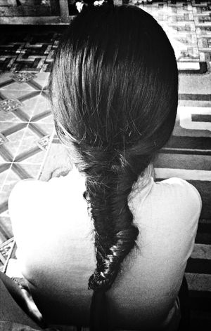 Fish tail braids. Braids
