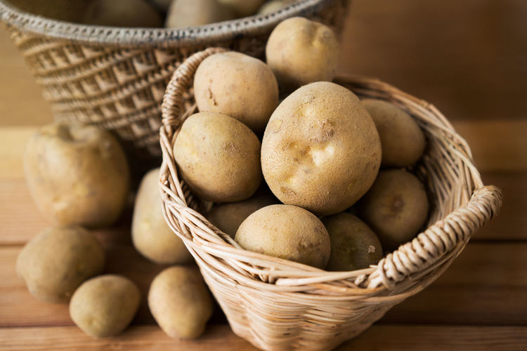 potatoes in a