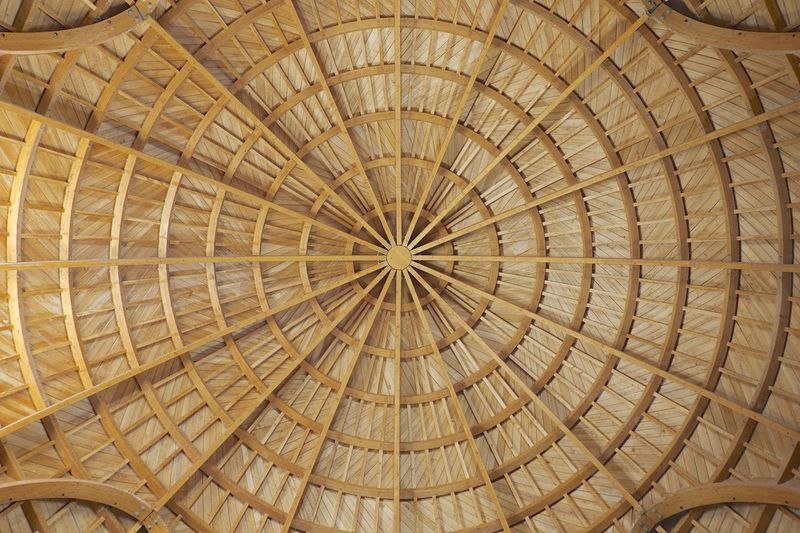 The refurbished dome of the Umayyad Palace in Amman Citadel. Amman Beams Concentric Circles Dome Roof Jordan Wood Woodwork  Middle East Architecture Interior Views The Architect - 2016 EyeEm Awards