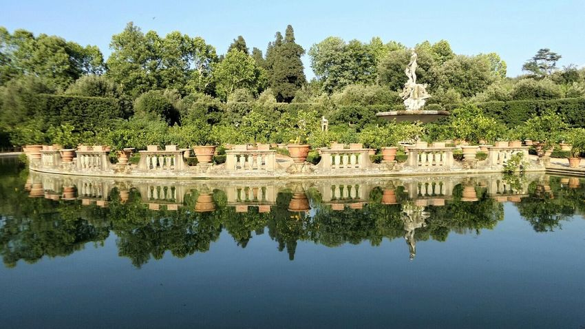 Holiday Trip Florence Firenze Italy Italia Boboli Garden Silence Park Mirror Lake