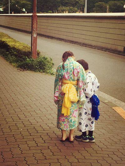 お祭りの帰り。 Tokyo,Japan Ultimate Japan Relaxing Enjoying Life Taking Photos People Photography Japan Photos Walking Around Happy Peace And Love 下町 夏祭り Love ゆかた 朝顔市