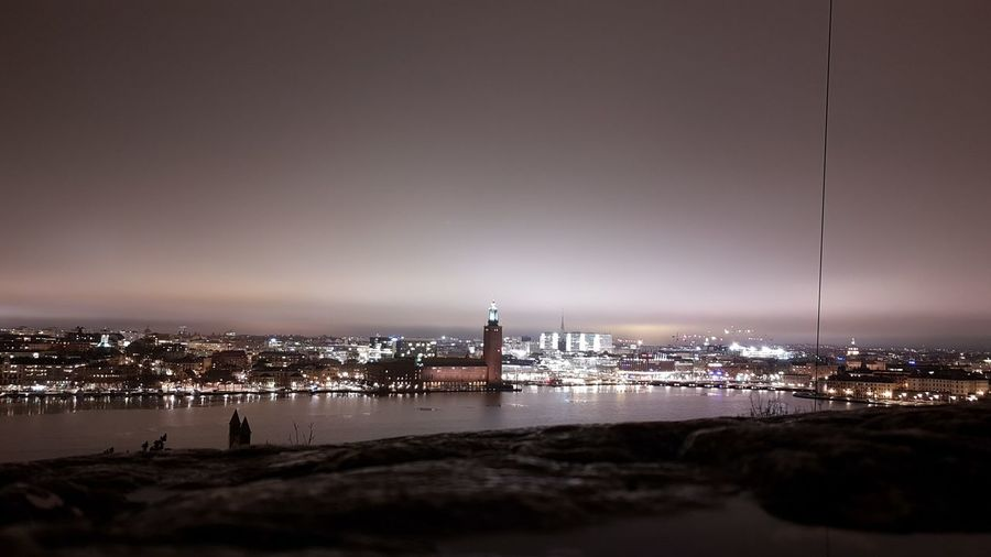 Stockholm, Sweden Outdoors Night Cityscape Downtown District Urban Skyline Sky