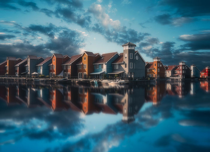 EyeEm Best Shots Groningen Remo SCarfo Architecture Beauty In Nature Building Building Exterior Built Structure Cloud - Sky Clouds Day Dusk Dutch Holland House Nature No People Outdoors Reflection Residential District Sea Sky Tranquility Water Waterfront