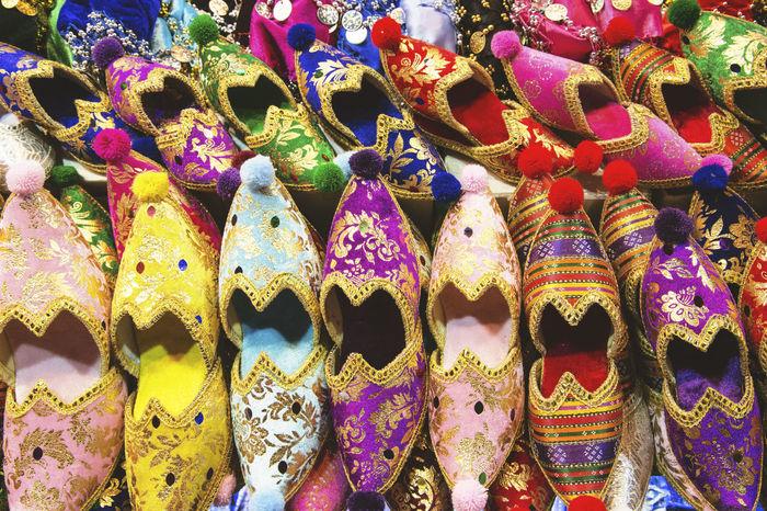Abundance Arrangement Bazar Choice Close-up Clothes Colors Colourful Creativity Foot Wear  Grand Bazaar Grand Bazar Istanbul Handmade Istanbul Shoes Traditional Turkey Variation VSCO Cam Vscocam