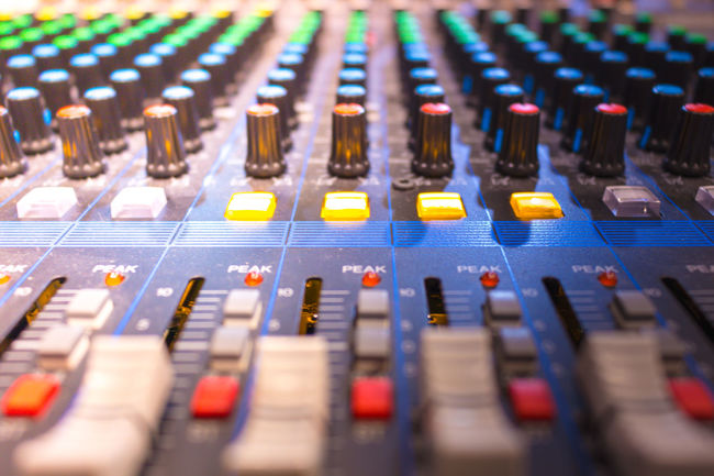 Audio Equipment Bandwidth Broadcasting Close-up Control Control Panel Knob Mixing Music No People Noise Producer Radio Station Recording Studio Sound Mixer Sound Recording Equipment Studio Technology