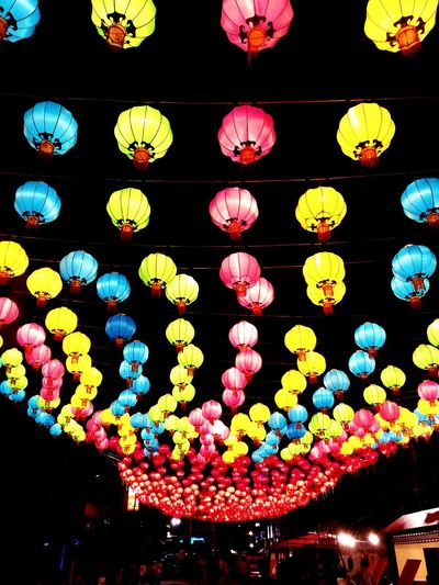 Night Lights Lighting Chinese New Year Decor Street Life By Samsung Galaxy Note2 Color Of Life