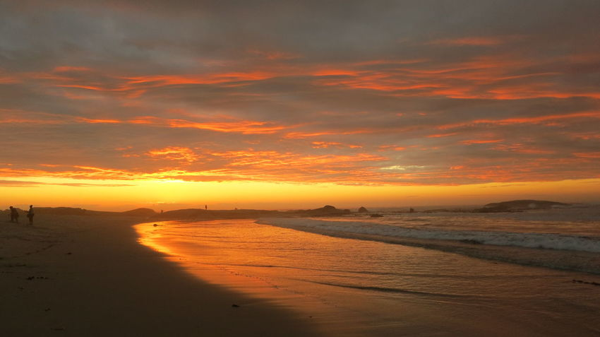 Beach Beauty In Nature Holiday Nature Orange Color Outdoors Reflection Scenics Sea Silhouette Sky Sun Sunset Tranquil Scene Tranquility Water