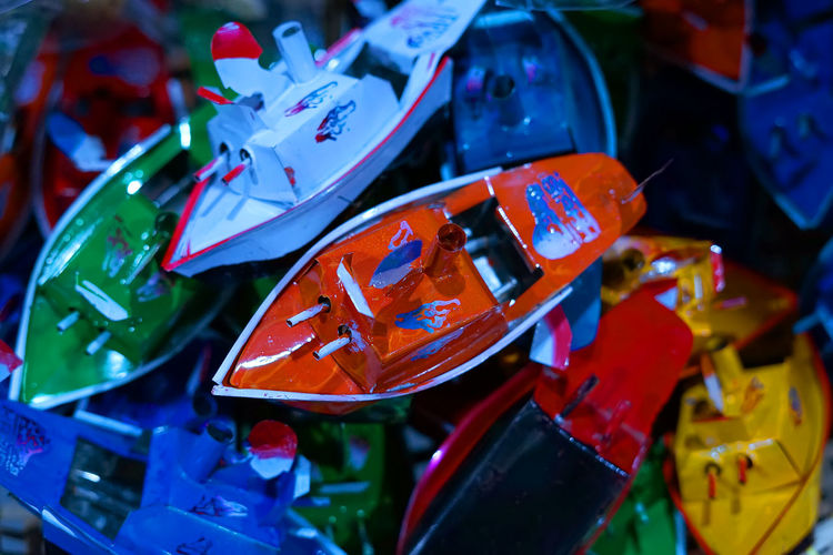 Oldies Toys From Indonesia Red Still Life Collection For Sale Selective Focus Old Old Toys Boat Boat Toys