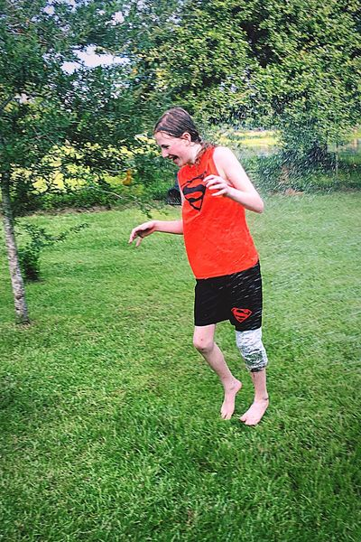 Showcase July My Daughter July 2016 Impromptu Play Heat And Humidity Beating The Heat Sprinkler In Grass Getting Her With The Garden Hose Wrapped Her Poor Pathetic Led Up In Plastic And Tape To Keep Water Off Her Knee Brace She Looked A Mess! But Had A BLAST!! Everyday Emotion Mobile County Hwy. 90 Alabama Country Life Super Girl:* Candid Photography Children Photography Twelve Years Old For One Week Cooling Down Getting Wet Family That Plays Together Stays Together Nature At Your Doorstep Taking Advantage Of Natures Beauty