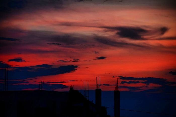 Eyeemsunsets EyeEm EyeEm Best Shots Landscape_photography Nikon Nikonphotography Nikond5300 Vivid Sunset Dramatic Sky Orange Color Sky Silhouette No People Cloud - Sky Red Nature Built Structure Beauty In Nature Outdoors Scenics