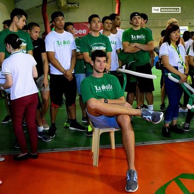 @arnoldvanopstal ?? Uaap77 Animorally Animorally2014 Animo dlsu greenarchers sports sendoff themanansala hoop basketball AVO