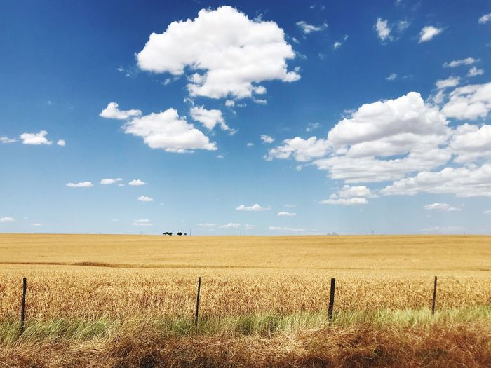 Gods handy work! Sky Land Field Cloud - Sky Landscape Environment Scenics - Nature Farm Horizon Over Land