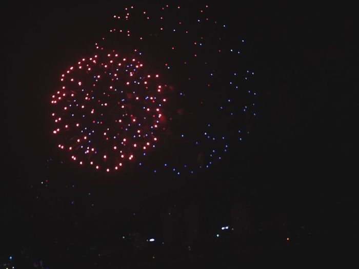 Happy Lunar New Year 2016 <3 2016 Fireworks NewYear Hpny Beautiful Nice Red Blue Taken By Me
