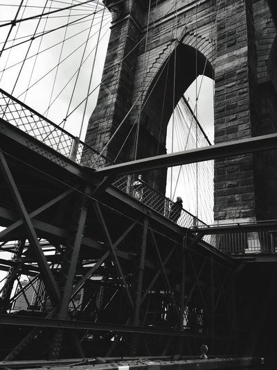 NY city Blackandwhite Landscape Photography New York City Amazing Built Structure Architecture Low Angle View Building Exterior Bridge No People Connection Transportation Outdoors City Tourism Travel Destinations Nature
