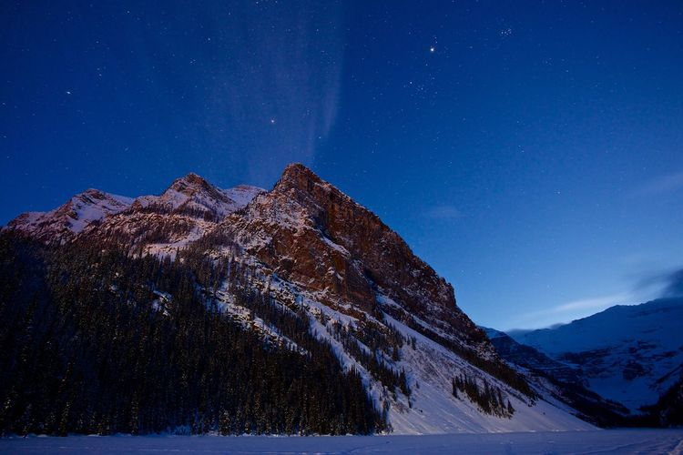 Banff National Park  Beauty In Nature Cold Temperature Lake Louise,Alberta Landscape Majestic Mountain Mountain Range Scenics Snow Tranquil Scene Winter Landscapes With WhiteWall