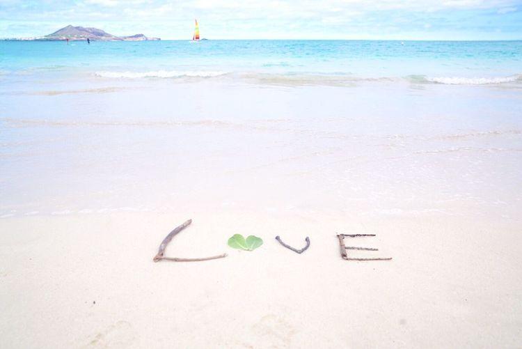 Love Hawaii Beach Sea Water Nature Outdoors Beauty In Nature Horizon Over Water No People Sky Love Hawaii