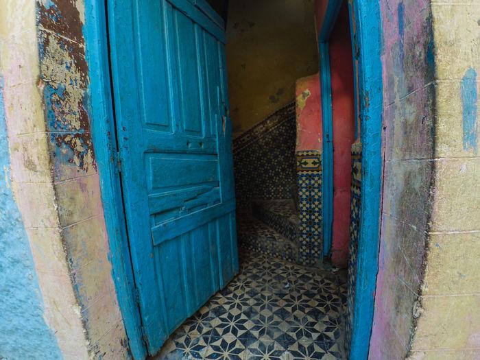 Morocco Tangier Architecture Built Structure Door Doorway Entrance Entry No People Open Door