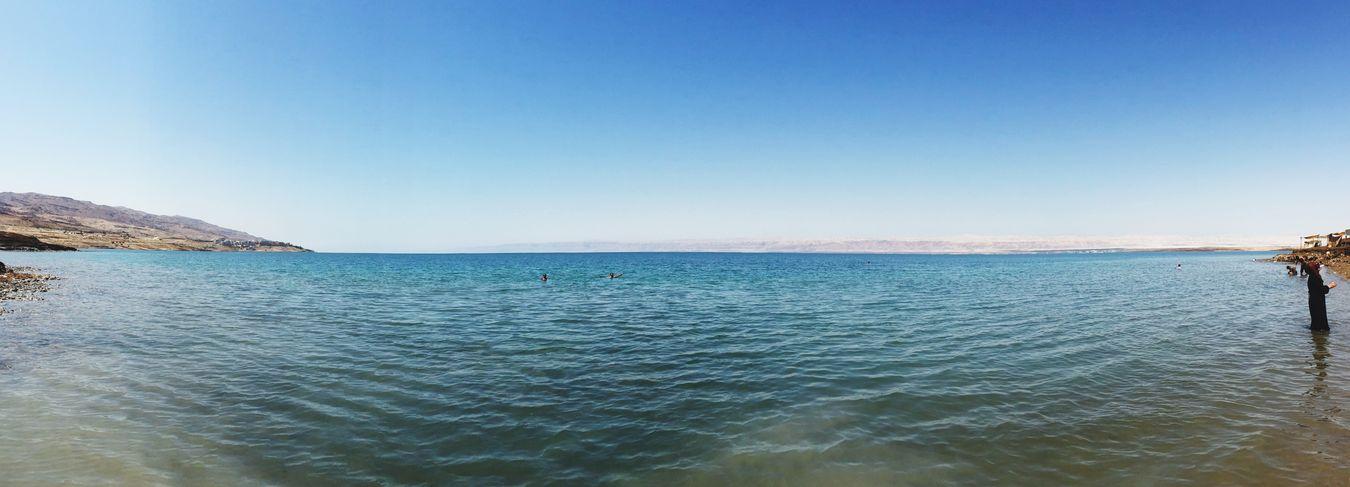 Dead Sea  in Jordan in the Sun