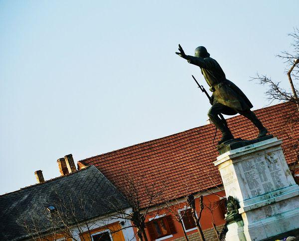 a World War II Memorial in Mor Hungary, Worldwar2 Memorial Soldier War Lost Pain Death Glory Pride