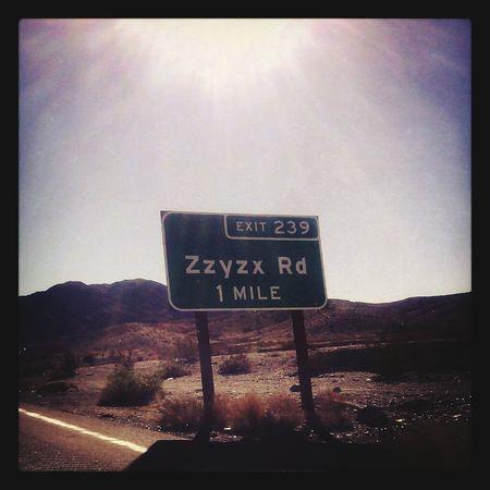 Between Angels and Sin Los Angeles, California Vegas  Highways&Freeways Roadsigns Mojave