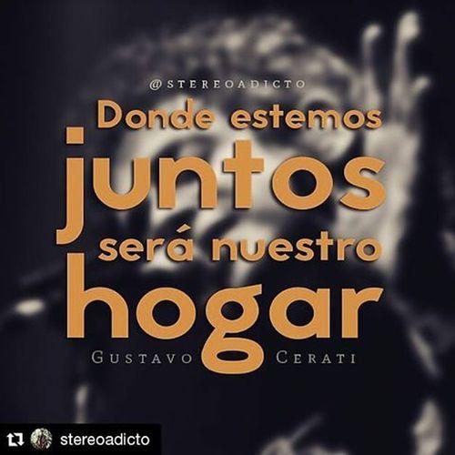 "Repost @stereoadicto with @repostapp ・・・ ""Nuestro hogar"" Gustavocerati Cerati FrasesDeCerati CeratiEterno CeratiInfinito RecordarteEsUnHermosoLugar"