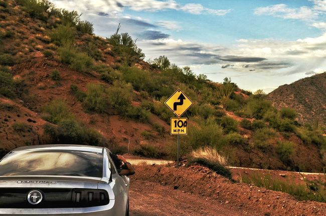 100 miles per hour! Car Mustang Rally Rally Day Desertroad Speeding Dirtroads Drifting Drifting Car Outdoors Nature Landscape Mountain View Arizona Desert Dramatic Sky Apache Trail Scenic View Scenic Drive Scenicroads