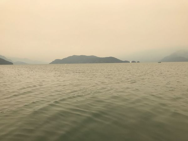 Beautiful in an eerie way. Explore Hellobc Beautiful British Columbia Forestfire Tranquility Tranquil Scene Scenics - Nature Water Sky Sea EyeEmNewHere Beauty In Nature Land Mountain Beach Nature First Eyeem Photo