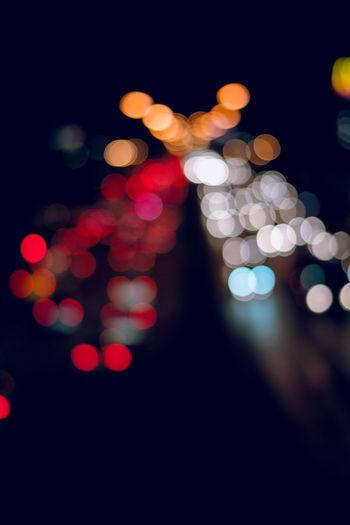 Defocused Design Illuminated Lens Flare Light Lighting Equipment Night Pattern