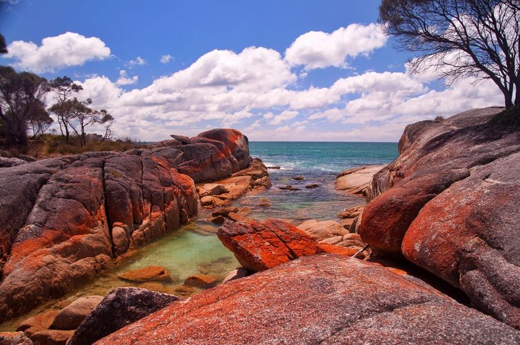 The Bay of Fires, Tasmania Nature Rock - Object Sea Sky Beauty In Nature Rock Formation Tranquility Scenics Cloud - Sky Outdoors Water Beach Tranquil Scene No People Day Horizon Over Water Physical Geography The Great Outdoors - 2017 EyeEm Awards Australian Landscape Australia Tasmania The Great Outdoors - 2017 EyeEm Awards