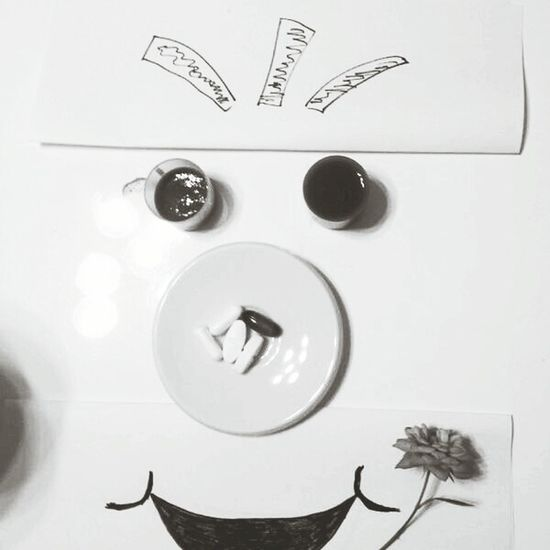 Breakfast of funny art. Handmade Comic