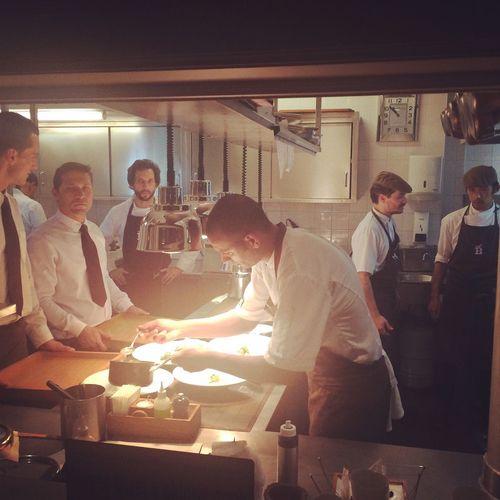 Chef José Avillez and his team. Jose Avillez Chef Belcanto Lissabon Kitchen Restaurant Michelin Star