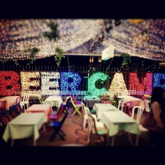 BEER CAMP ビアガーデン 実習めん