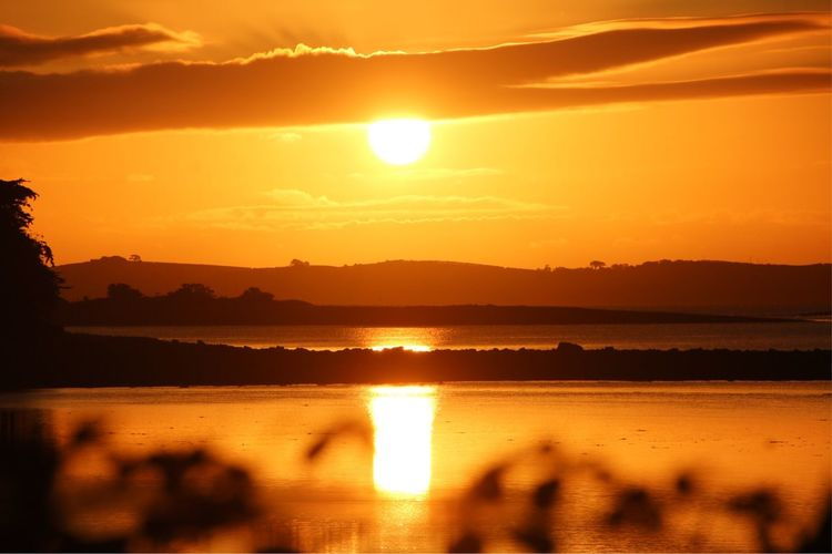 Rising high Glorious Sunrise Live Whataview Whatasky Earlybird Catches The Worm Northern Ireland Enjoying The Sun EyeEmNewHere Strangford Lough EyeEm Nature Lover Lough Water Reflection Sky Beauty In Nature Scenics - Nature Sun Tranquil Scene No People Non-urban Scene