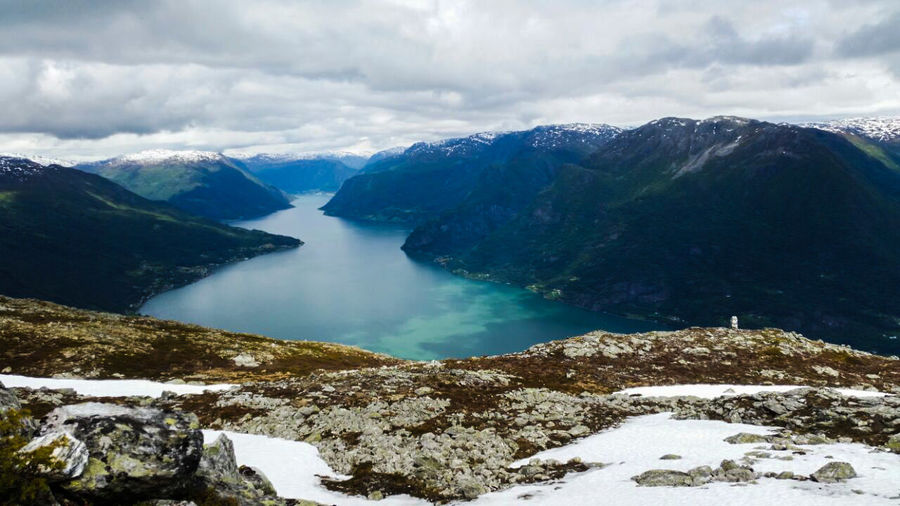 EyeEm Nature Lover Norway Fjord Lustrafjord EyeEm Snow Winter Cold Temperature Mountain Nature Lake Ice Beauty In Nature Cloud - Sky No People Landscape Mountain Range Travel Destinations Outdoors Scenics