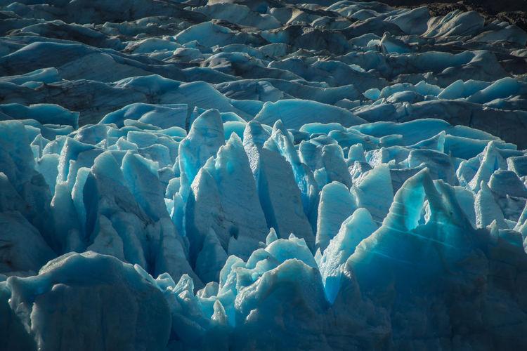 Full frame shot of frozen lake