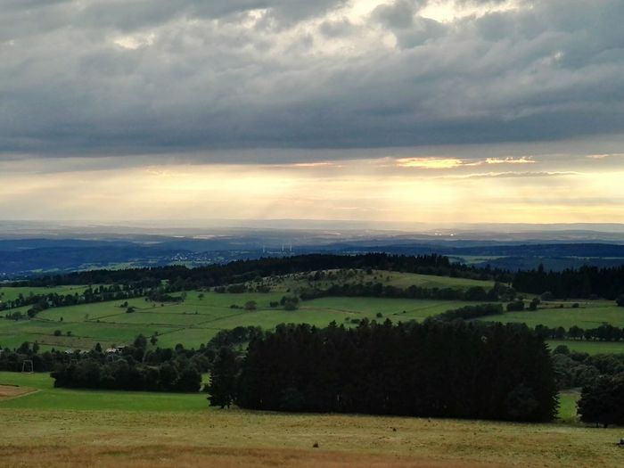 Hanging Out View From Above View From Hoherodskopf In Vogelsberg Mountain Showcase July