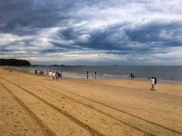 Land Beach Water Sand Sea Sky Cloud - Sky