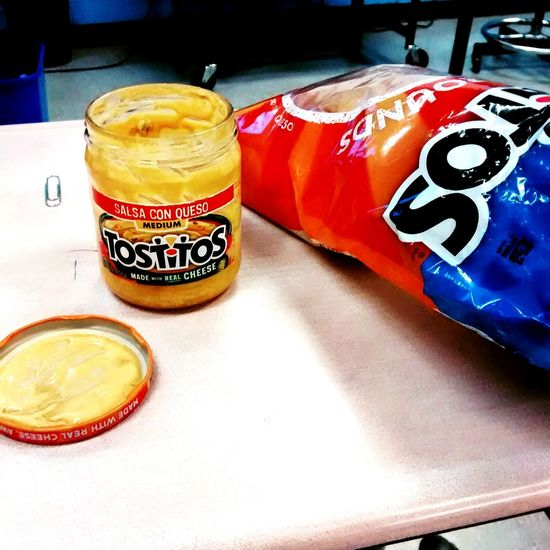 I was mouching off of my teacher who didn't mind at all. Class Lunch