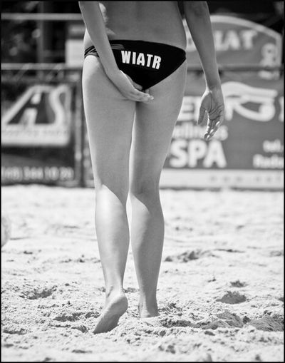 Wiatr =Wind , Blackandwhite Black & White Woman Volleyball Body Sport People