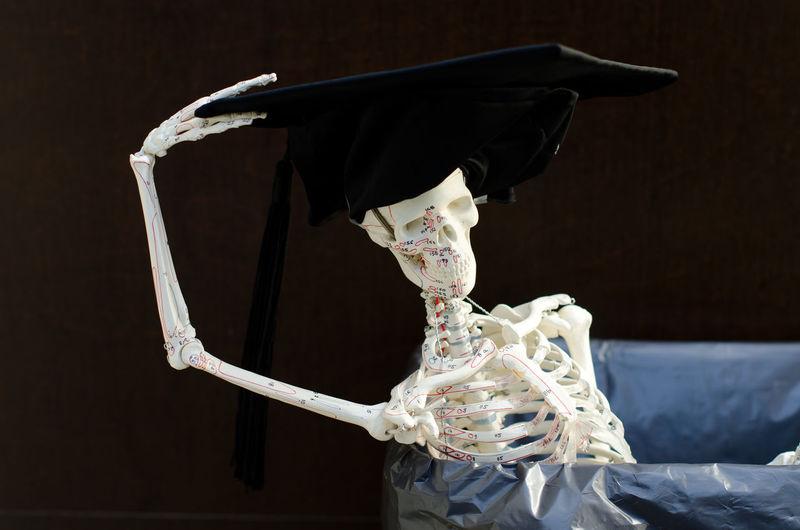Celebration Close-up Day Doktorhut Garbage Medicine No People Outdoors Promotion Sceleton