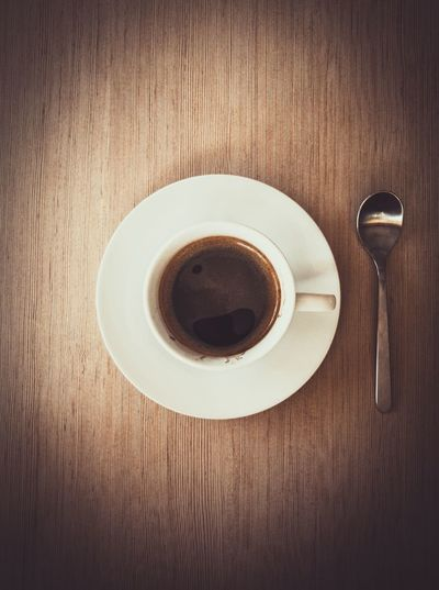 Refreshment Food And Drink Drink Table Coffee - Drink Coffee Cup Directly Above Freshness Still Life Indoors  Wood - Material No People Beverage Saucer Food Close-up Ready-to-eat Day Coffe Coffee Time Coffee Break Coffee EyeEm Gallery The Week On Eyem EyeEm Best Edits
