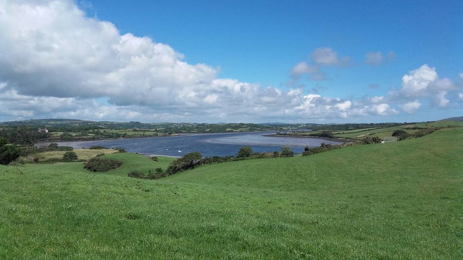 Enjoying Life Ilen River Irish Landscape From My Point Of View Ireland Wild Atlantic Way, Ireland, Cork, West Cork, Seascape, Landscape. Sea, Mountains, No Filter, No Edit, Just Photography Ireland🍀 West Cork River Irish Summer Beauty On Our Doorstep Tranquility Clouds And Sky Green Grass Blue Sky