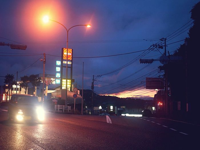 Twilight Scene Waiting In The Car Evening Light Evening Sky On The Road National Route 34, In Japan Isahaya City Nagasaki prefecture / L10K 50mm Usual set de Good Night EyeEm_crew