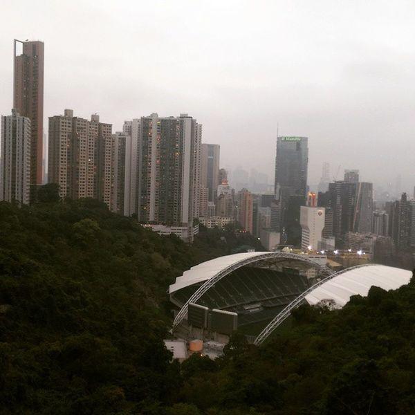 Hongkongstadium Walking Amazingviews Foggy Happyvalley