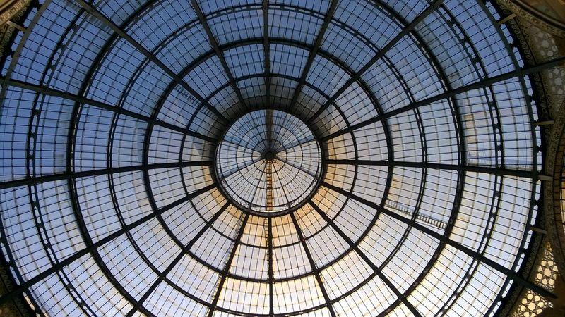 Galleria Vittorio Emanuele Geometry Glass Lumia 735 Milano Nokia  Perspective Skylight