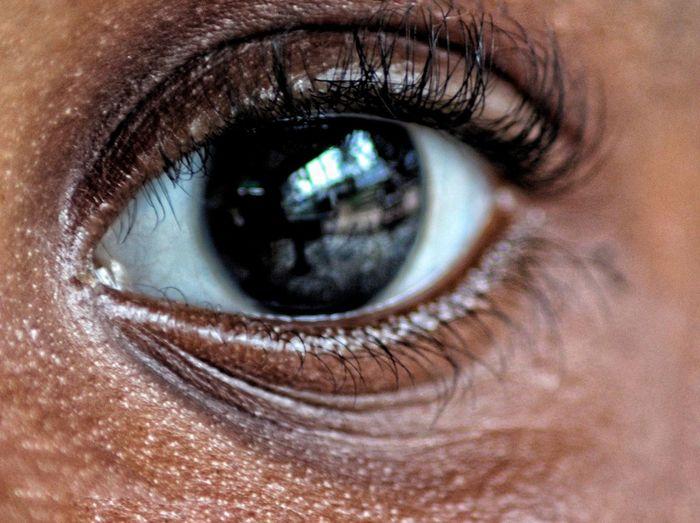Cropped Portrait Of Girl Eye