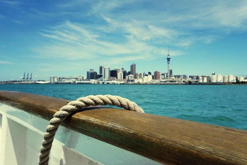 Looking at Auckland City, New Zealand from the harbour Auckland New Zealand Cityscapes Travel City Pacific